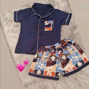 Women navy sleepwear pijamas- size S